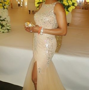 Stunning beaded gown prom/wedding